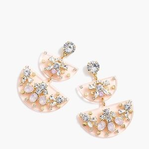 j crew | half-moon crystal earrings